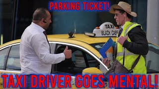 Hot girl gets out of fine!! Taxi driver goes mental!!