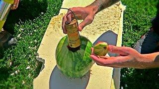 Watermelon Vs Mortar in Slow Motion