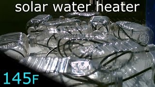 Solar Water Heater! - Made with poly tube and plastic bottles - 145F - Easy DIY