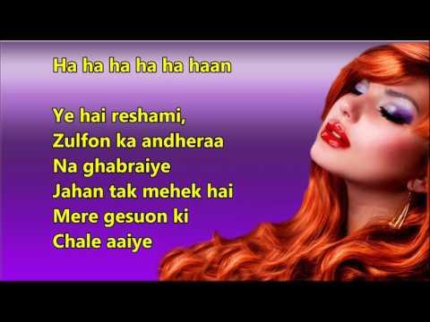 Xxx Mp4 Ye Hai Reshami Zulfon Ka Andhera Mere Sanam Full Karaoke With Scrolling Lyrics 3gp Sex