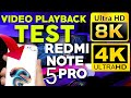The Real POWER Of Redmi Note 5 Pro🔥4K 60fps➕8K ULTRA HD/ Video PLAYBACK TEST