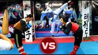 مباراة كونغ فو قوية مهند ومحمد تلاميذ نسر الكونغ فو (أول قتال) Kung fu Real fight