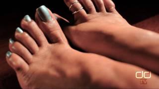 Darla TV - Ebony Feet, Perfect Green Toenails