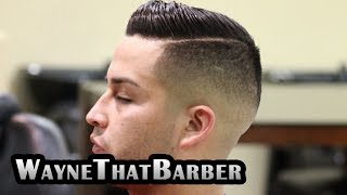 Featured Barbers #1 WayneThatBarber San Bernardino, by MarioNevJr: Comb Over/ Side Part