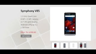 Symphony v85 First Look & Spec....Price: Tk. 5,490
