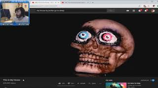 Penguinz0 Reacts to my THIS IS MY HOUSE a Don't Hug Me I'm Scared Clone
