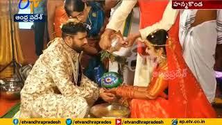 Hanuma Vihari and fashion designer Preeti get married in Hanamkonda
