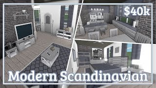 Bloxburg - Modern Scandinavian House Speed-build