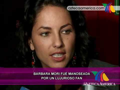 caiga quien caiga Barbara Mori manoseada por un fan