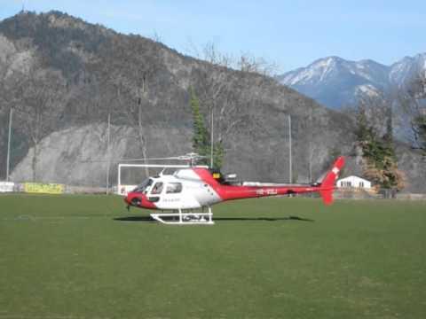 Helico AS350B3 Ecureuil - HB-XQJ - Air Glaciers - Grimisuat - Switzerland -  20 March 2012