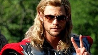 Chris Hemsworth as Thor | Behind the scenes