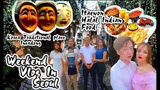شاهد أجواء المظاهرة في كوريا الجنوبية 😶 جربنا أكل هندي مع عائلتي المغربية