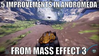 Top 5 Additions and Changes to Andromeda from Mass Effect 3