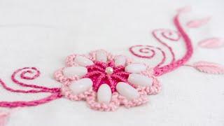 Embroidery Designs for Neckline | DIY Stitching Tutorial | HandiWorks#113