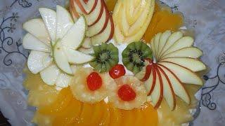 How To Make Birthday Fruit Cake | Mixed Fruit Cream Cake