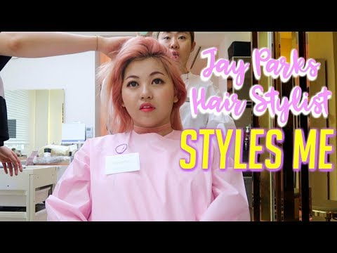 Jay Park's Hair Stylist Styles Me + SENDS HIM A VIDEO MESSAGE!