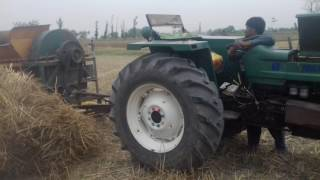 How to Start & Plug Thresher with FIAT 640 Tractor must watch 2017