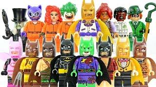 The Batman Movie Unofficial LEGO Knockoff  Minifigures Part 1 w/ Arkham Asylum Joker Inmates