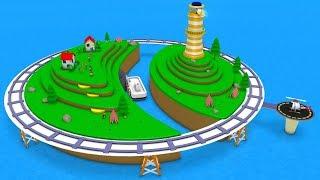Train Cartoon for children - Chu Chu Train - Train for Kids - Toy Factory Cartoon