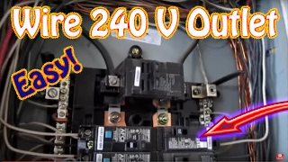 How to Wire a 240 Volt Outlet - DIY Install a 220 Volt Outlet - NEMA 6-20 20 AMP Circuit Breaker HD