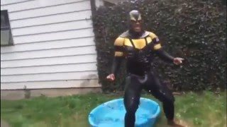 This Moment He Knew He F**ked Up: Phoenix Jones Takes The Ice Bucket Challenge While Getting Tased!
