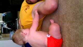 charlie finds daddy's armpit;) 6/30/12