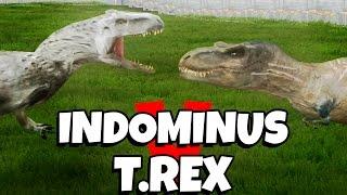 INDOMINUS REX VS TYRANNOSAURUS REX (Jurassic Park: Operation Genesis)