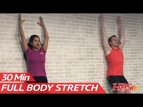 30 Minute Full Body Stretching Routine - Total Body Stretch Exercises Improve Flexibility & Mobility