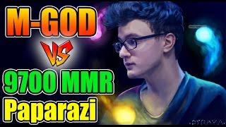 M-god vs 9700 MMR - Miracle- [Invoker] vs Paparazi Dota 2 7.06