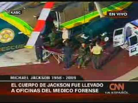CUERPO DE MICHAEL JACKSON ES TRASLADADO PARA AUTOPSIA