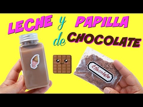 Como hacer Leche y Papilla de Chocolate falsa • Comida de Juguete • Colegio de Juguetes