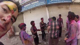 foreigners groping in holi india