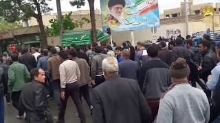 ISFAHAN, Iran, April. 12, 2018.Protest gathering of farmers