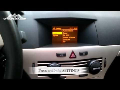 Opel Astra H secret menu