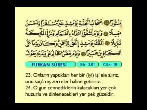025. Furkan Suresi ( Furkan ) - Kur'an-ı Kerim - (The Criterion ) - The Noble Qur'an