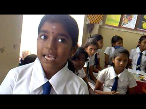 Kotahena Good Sheppard Tamil Primary School Girl describes what 6S are in all three lanuages