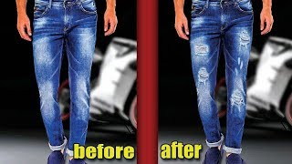 Edit a torn jeans pant by Photoshop by Hms Creation