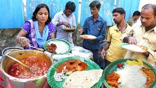 Hyderabadi Street Food Meals | Chicken Rice/Veg Rice/Chicken Chapathi @ 50 Rs Only | Best StreetFood
