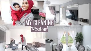 CHATTY SPEED CLEAN WITH A BABY+ LIVING ROOM TOUR!  Zeinah Nur