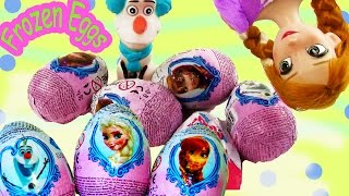 Kinder Surprise Eggs Disney Frozen Chocolate Mystery Toy Unboxing Princess Anna Olaf Opening Part 1