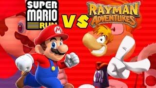 Super Mario Run vs Rayman Adventures
