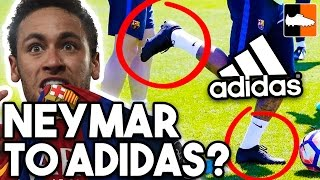 Neymar to adidas? Mystery Black-Out Boots!