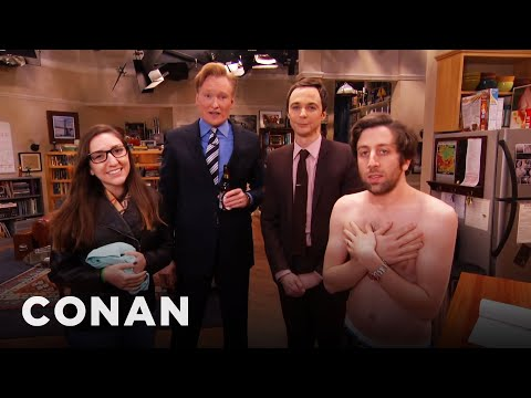 Jim Parsons & Conan Raid The Big Bang Theory Set With A Fan