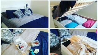 ترتيب الملابس الموسمية بمنظمات  رائعه, رخيصة و عملية مع معلومات حول السرير