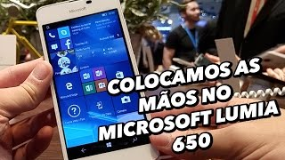 Colocamos as mãos no smartphone Microsoft Lumia 650 [Hands On] - MWC 2016