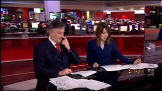 Simon McCoy caught picking his nose on BBC News (plus other gaffes) news blooper