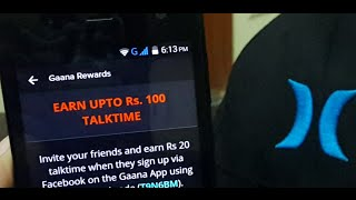 How to Get Rs110 FREE RECHARGE With PROOF|2015|Gaana Rewards
