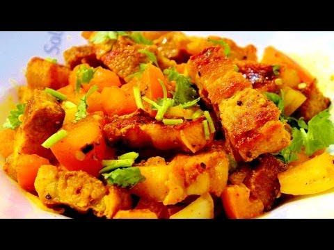 Newari Pork Choila / Spicy Pork - Nepali Style - Nepali Food Recipe!