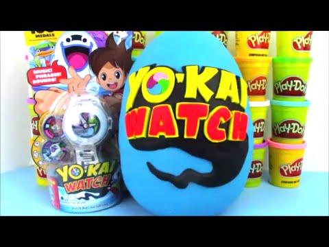 Giant Yokai Watch Surprise Egg with Video Game Toys!