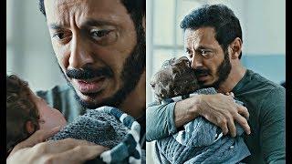 مشهد مؤثر | مصطفى شعبان ينهار من البكاء بعد رؤية أبنه لأول مره #أيوب